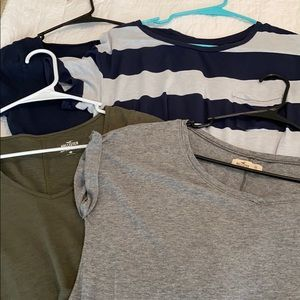 Set of 4 Hollister American Eagle T shirts.